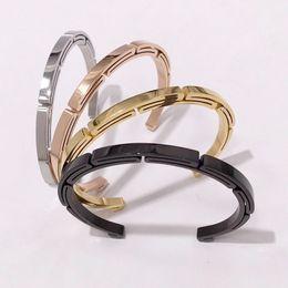 FP Fashion Shackle Screw Cuff Bracelet Stainless Steel Bracelets /& Bangles Black
