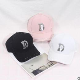 2019 bonés de beisebol elegantes Boné de beisebol elegante chapéu feminino broca de água tampão macho letra D boné de beisebol casal primavera verão máscara chapéu da juventude bonés de beisebol elegantes barato