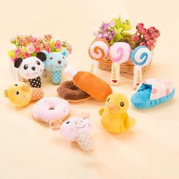 Pequeños animales de peluche online-Soft Pet Dog Toys Plush Dog Toy Puppy Squeak Toy para perros pequeños Pet Chew Toys Mascotas Productos Perros Suministros al por mayor y Dropshipping