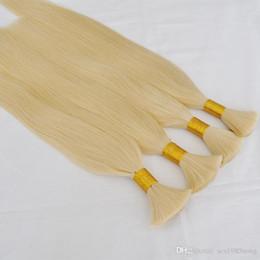Argentina Promociones Oferta especial 100% cabello humano 4pcs / lot 400g 50cm 60cm extremos gruesos bulto del pelo humano rubio barato en la venta a granel blondep del pelo Suministro
