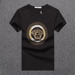 novia novio camisetas Rebajas Venta caliente diseñador de la camiseta para los hombres 2019 nueva llegada del verano Top Tees manga corta para hombre ropa de marca de color sólido más tamaño M-3XL