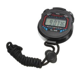 temporizador multifunción Rebajas Reloj deportivo digital Cronómetro LCD multifunción temporizador cordón negro