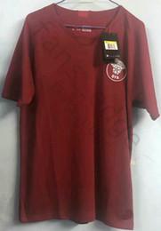 Тайский футбольный трикотаж онлайн-Тайское качество 2019 Qatar Soccer Jersey 19 20 Qatar national football team Hasan Al-Haydos Akram Hassan Afif трикотажные изделия рубашка главная красный цвет