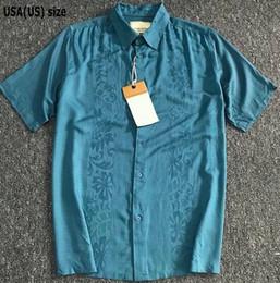 Rayon Gömlek Erkek Ipek Düz Renk Kısa Kollu Çiçek Gömlek Vintage Erkekler Büyük Boy Yaz Koyu Mavi Serin Nefes Fit 85 ila 115 kg nereden