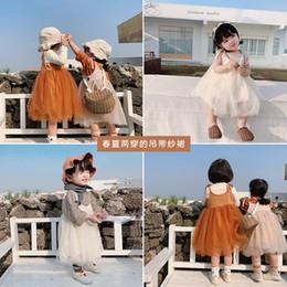 Kleine mädchen fee kleider online-Mädchen Frühling 2019 Little Fairy Kleider Baby Pure Colored Cotton Sleeveless mit Bowtie Lace Prinzessin Kleid Little Children Tutu