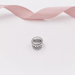 Abençoe pulseira on-line-Authentic 925 Sterling Silver Beads Abençoado Prata Charme Com Limpar Zircônia Cúbica Encantos Se Encaixa Pulseiras Jóias Estilo Europeu Pandora