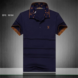 elegante camisa verde para hombre Rebajas Verano 18ss diseñadores tag serpiente imprimir ropa hombres tela letra polo g camiseta collar casual mujer camiseta camiseta tops 998
