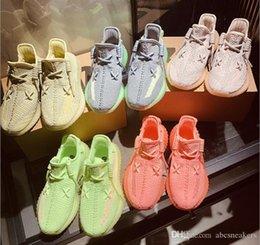 350 V2 cebra de 2020 mujeres de los hombres zapatillas de deporte de la crema de sésamo estática Kanye West og Arcilla Forma Verdadera hiperespacio 3M zapatos Correr desde fabricantes