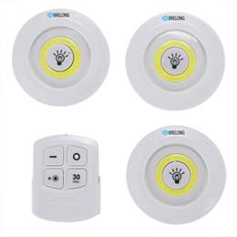 2019 luces led de maletero del coche BRELONG LED Luz del gabinete Luz nocturna Control remoto Lámpara de pared para interiores regulable Blanco Adecuado para maletero, pasillo, armario rebajas luces led de maletero del coche