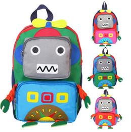 2019 nette roboterkarikatur Kinder Schule Rucksack Tasche Cartoon Niedlichen Rucksack Für Kindergarten 1-5 Jahre Alt Mädchen Junge Mädchen Reisen Rucksäcke Roboter Taschen günstig nette roboterkarikatur