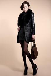 damen lederjacke lila Rabatt Wintermantel frauen Pelz Lederjacke Lange Warme Moto Outwear Mantel Jaquetas Couro Veste Cuir Femme Chaqueta Piel Mujer