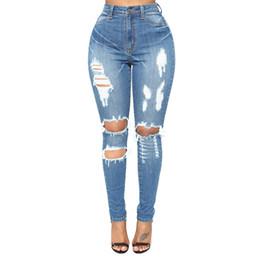 Jeans serrés en Ligne-Nouveaux jeans: jeans pour femmes minces, creux, serrés, taille haute en Europe et en Amérique
