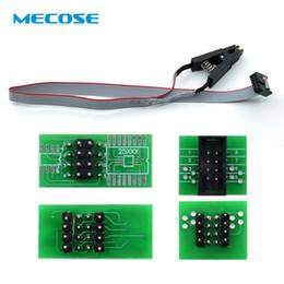 programmateur flash usb Promotion Nouveau Clip de test SOIC8 SOP8 pour EEPROM 93CXX / 25CXX / 24CXX + CH341A, module de programmation USB Flash EEPROM série 24 25