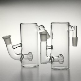 receptor de ceniza mini bong Rebajas 14mm 18mm Glass Bong Ash Catcher con Thick Pyrex Glass Ashcatcher 5 pulgadas Mini Glass Smoking Honeycomb Pipes de agua