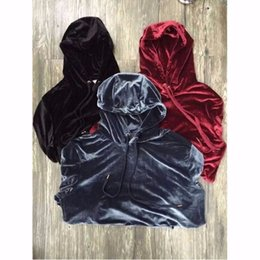 2019 kanye oeste veludo 2018 New Chegou Kanye West Streetwear Cor Sólida 100% Hoodies Dos Homens de Veludo Hip Hop camisolas Longas Juventude Popular S-XL C18122901 desconto kanye oeste veludo