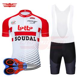 Shorts de loto en Ligne-2019 Pro Team Belgium Lotto Maillot De Cyclisme 9D Set VTT Vêtements De Vélo Usure Vélo Mens Short Maillot Culotte