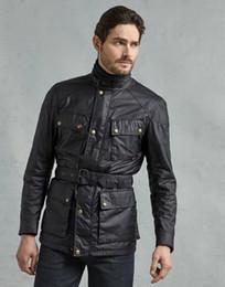 giacche cerate Sconti Bomber moda per il rivestimento degli uomini Veste Tourist Trophy Wax Cotton Men Kurtka Turystyczna Giubbotti Cerati Moto Coat SH190925