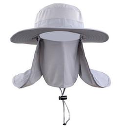 sombreros de sol de montaña Rebajas El secado al aire libre Pesca Quick Sombreros Hombres Mujeres redonda grande de Sun del borde del bloque casquillo de Sun del verano para el recorrido de la escalada del sombrero del cubo