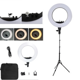 "camera photography Promo Codes - LED Ring Lights 18"" Camera Photo Studio Phone Video 55W 240PCS LED Ring Light 5500K Photography Dimmable Makeup Ring Lamp With 200CM Tripod"