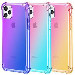 2019 чехол для мобильного телефона zte Градиент цвета противоударной подушки безопасности Четкие дела для iPhone 11 Pro Max XR XS 8 7Plus 6S для Samsung S10 S9 Примечание 9