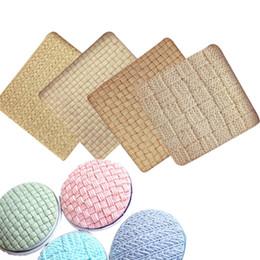 Texture di pizzo online-modello di pizzo di lana modello di stampo in silicone fondente modello di trama pad texture di stampa torta che decora gli strumenti di cottura della cucina