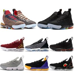 premium selection ac68d aa801 Nouveaux chaussures de basket-ball pour hommes Lebron James 16 16s je  promets roi 1 à 5 oréos fraîches de race Lakers CE QUI EST LE formateur  hommes ...