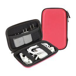 Écouteurs personnalisés en Ligne-Logo personnalisé PU EVA Zip Serrure Sac pour Câble Emballage Universel Boîte pour Chargeur Écouteur Vente Au Détail Fermeture À Glissière Emballage