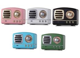 Marcas de altavoces de alta calidad online-Altavoz retro de la manera altavoz Bluetooth Marca de moda subwoofer inalámbrico Bluetooth portátil altavoz de la música del micrófono 5 colores de alta calidad
