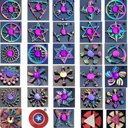 Argentina Rainbow metal Fidget spinner estrella flor cráneo ala del dragón Mano Spinner para Autismo TDAH Niños adultos antiestrés Juguete EDC Fidget Toy Suministro