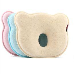 Travesseiro de cabeça de urso on-line-Espuma de memória Travesseiros Do Bebê Recém-nascido Shaping Travesseiro para Evitar a Cabeça Plana Elasticidade Macia Dormindo Cama Urso Travesseiro Presente Infantil