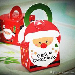 plantas artificiais luzes led Desconto Decorações de natal Caixa de Presente de Maçã de Natal Maçãs Xmas Eve Embrulho Sementes De Árvore Sólida Cupcake Cup Red Muffin Papel 8 * 8 * 15.5 CM ALFF