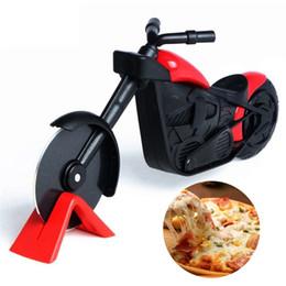 2019 fda embalagem de alimentos Cortador De Pizza da motocicleta Em Aço Inoxidável Pizza Roda Cortador De Faca de Bicicleta Rolo De Pizza Chopper Slicer Peel Facas LX1837