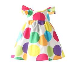 2019 vestido floral de pele falsa INS cereja lemon cotton dress meninas sem encosto floral praia vestido de bebê bonito backless halter dress crianças vestidos de flores do vintage