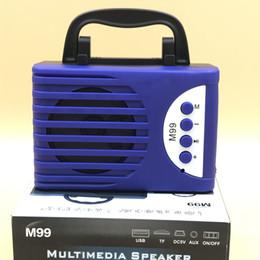 Plugue de áudio do computador on-line-2019 Novo M99 Novo Bluetooth Speaker Portátil Único de 3 polegadas Bluetooth Computer Audio Plug-in Cartão