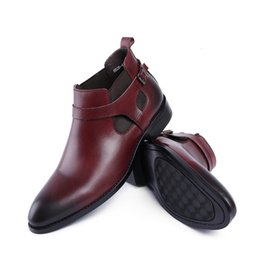 Classic Buckles Mens Vera Pelle Italia Derby Oxfords Scarpe 2018 Abito da sposa Party Shoes Moto Stivaletti Sapatos supplier mens dress buckle boot da caricamento del sistema dell'inarcamento del vestito dal mens fornitori