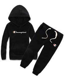 2019 chaquetas deportivas para niños boy Kids Sets Kids Baby vende mejor nuevo otoño chaqueta de niño hoodle suéter boy deportes con capucha traje 3 tamaños de color 2-8T rebajas chaquetas deportivas para niños
