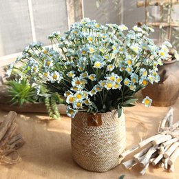 gefälschte blumen vasen Rabatt 15 Köpfe Künstliche Blumen Silk Gänseblümchen-Blumen Fake Flowers DIY Hochzeit Dekoration Startseite Vasen Dekoration