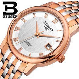 3580be8657f Nova Suíça Assista Men Auto Mecânica Binger Papel Marca de Luxo Homens  Relógios Skeleton Sapphire Masculino Relógio À Prova D  Água B653