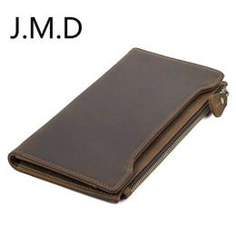 R tablero online-J.M.D Nueva tarjeta de embarque de billetera de cuero Crazy Horse RFID Wallet R-8168R