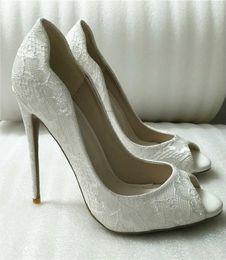 Туфли закрытые для дам онлайн-2019 новый 12 см 10 см высота каблука Высокое качество Горячие продажи Белый Сексуальные Высокие каблуки с открытым Носком Дамы Изукрашенный свадебные туфли Закрытые Пальцы