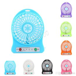 Mini ventilador de escritório on-line-Portátil Mini USB Fan verão Pequeno Bolso Desk Handheld Ar Recarregável 18650 Bateria Cooler Para Casa Escritório crianças brinquedos