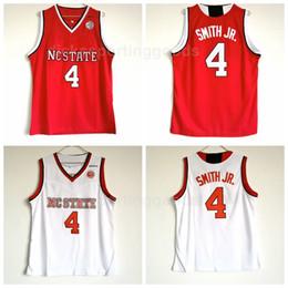 camisetas de equipo de baloncesto envío gratis Rebajas NCAA College Men Basketball 4 Dennis Smith JR. Jersey University NC State Wolfpack Jerseys Team Red Away White Envío gratis