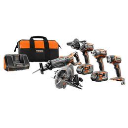 Conjunto de ferramentas elétricas Ridgid GEN 5X - pacote de baterias de nd7 de impacto 2 de serras de 18 volts de Fornecedores de conector para acer