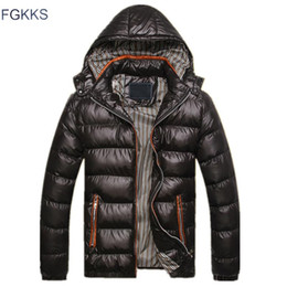 ce5decd6742 FGKKS New Men Winter Jacket Fashion Hooded Thermal Down Cotton Parkas Male  Casual Hoodies Brand Clothing Warm Coat
