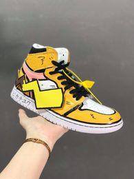 scarpe pokemon Sconti Clienti colpisce 1s Giallo Bianco 1 Simpatico una piattaforma di pallacanestro del Mens dei pattini per le donne sportive Aria off Designer Sneakers Trainers van taglia 11