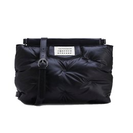 fluffy bags Promo Codes - Oversize clutch women's fashion big capacity space cotton fluffy bag pillow handbag down jacket material shoulder bag messenger