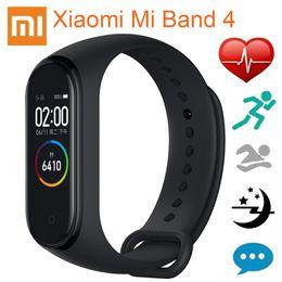 2019 pulsera bluetooth xiaomi mi banda Versión global Xiaomi Mi Band 4 Pulseras inteligentes Miband 4 Pulsera Frecuencia cardíaca Gimnasio 135 mAh Pantalla a color Bluetooth 5.0 Chino rebajas pulsera bluetooth xiaomi mi banda