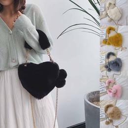 Piccoli cuori peluche online-grande in pelle tote bag manico a forma di cuore Shoulder Messenger Bag Plush semplice borsa selvatica piccola Borsa donna # 4