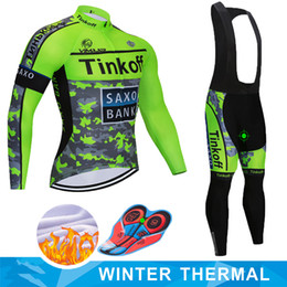 saxo tinkoff radfahren trikot Rabatt 2019 Saxo Bank Tinkoff Winter-thermisches Vlies Radtrikot Ropa Ciclismo MTB Fahrrad-Kleidung Maillot Außensport