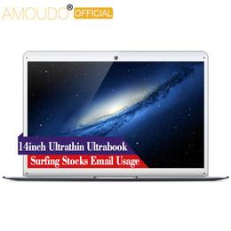 AMOUDO 14 inç Intel Dört Çekirdekli CPU Wifi Bluetooth Ultrathin Sörf Film Stok E-posta Ultrabook Dizüstü Dizüstü Bilgisayar supplier intel cpu for laptop nereden dizüstü bilgisayar için intel cpu tedarikçiler